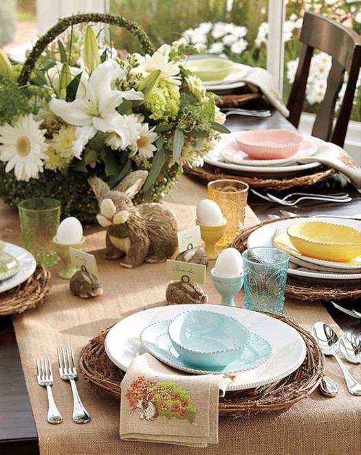 serving Easter table2