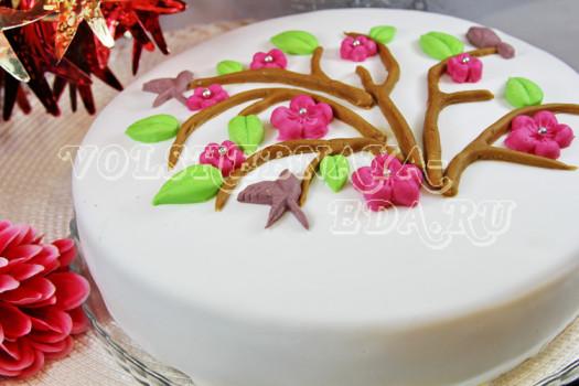 Торт с мастикой рецепт
