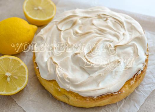 Лимонный тарт с меренгой рецепт с фото