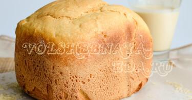Пшенично-рисовый хлеб на ряженке