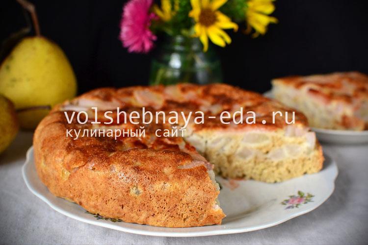 Рецепт пирога с грушей в мультиварке рецепты с фото