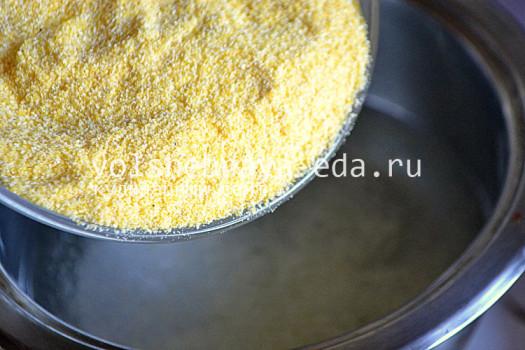 кукурузная каша с брынзой как приготовить
