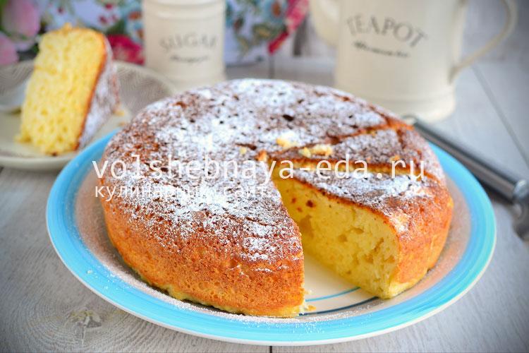 Творожный пирог в мультиварке рецепты