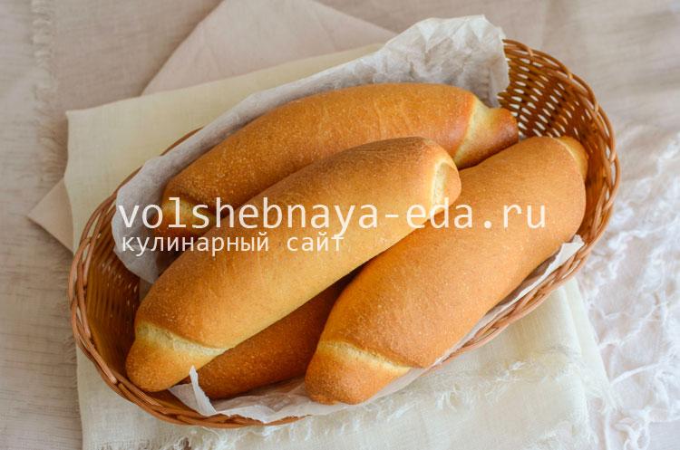 Рецепт булочки на хот дог