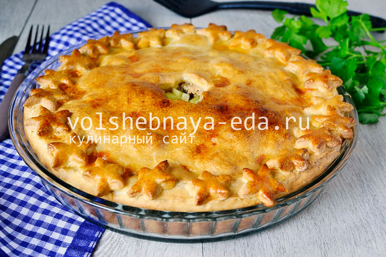 Закрытый пирог с мясом и картошкой