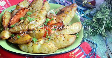 Запеченная картошка в духовке с травами