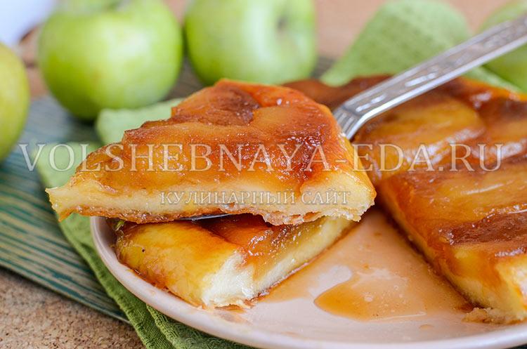пирог-перевертыш с карамелизированными яблоками