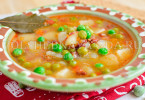 суп с горошком на ржаной закваске