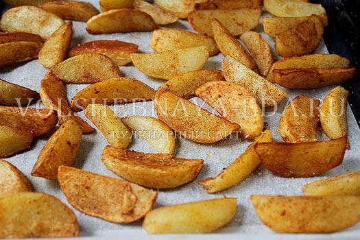 Рецепт картошка по деревенски в духовке фото
