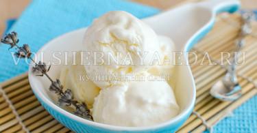 сливочное мороженое на йогуртной основе