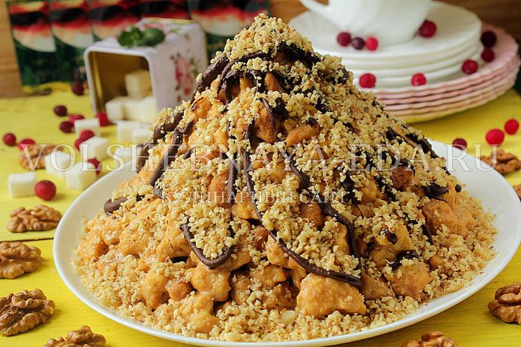 рецепт муравейник из масляный бисквит