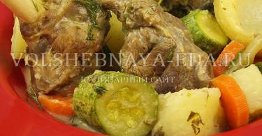 рецепт фрикасе из баранины с овощами