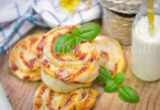рецепт мини-пицца с колбасой