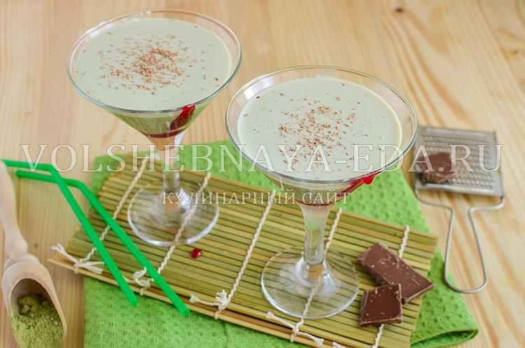 рецепт молочного коктейля с чаем матча