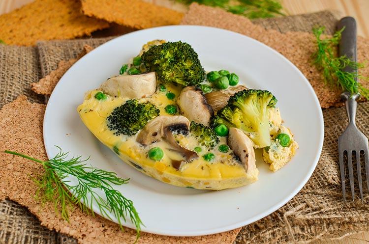 рецепт паровой омлет с овощами в мультиварке