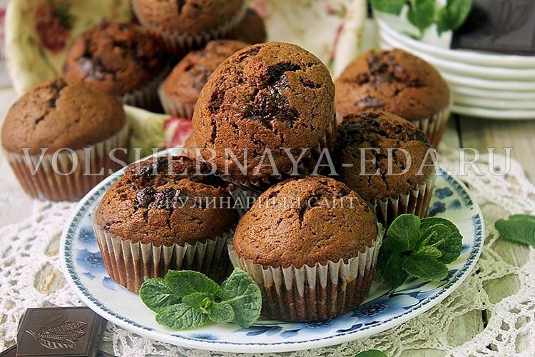 Шоколадные маффины рецепт с пошагово с шоколадом
