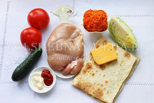 Рецепт шаурма из курицы