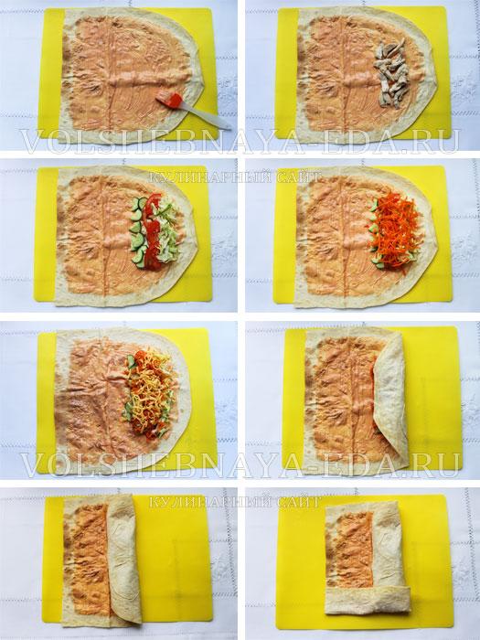 Как сделать шаурму дома в лаваше фото