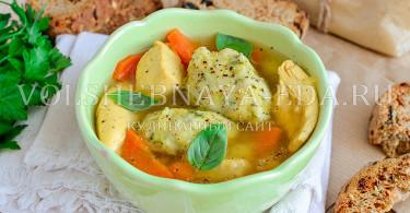 рецепт суп с галушками из фасоли в мультиварке