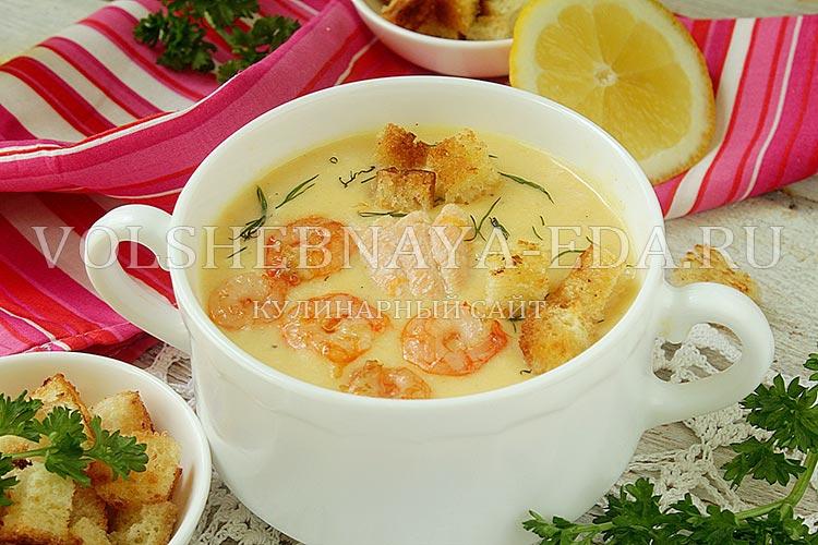 сырный суп, рецепт с фото