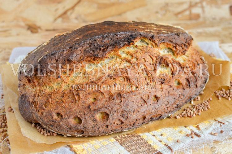 Хлеб с морской капустой и гречкой