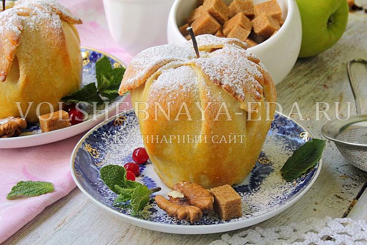 Яблоки в тесте рецепт