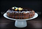 Бисквит с карамельно-шоколадной глазурью