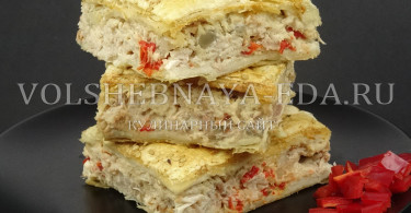 Куриный пирог по-гречески котопита