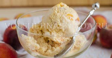Рецепт персикового мороженого