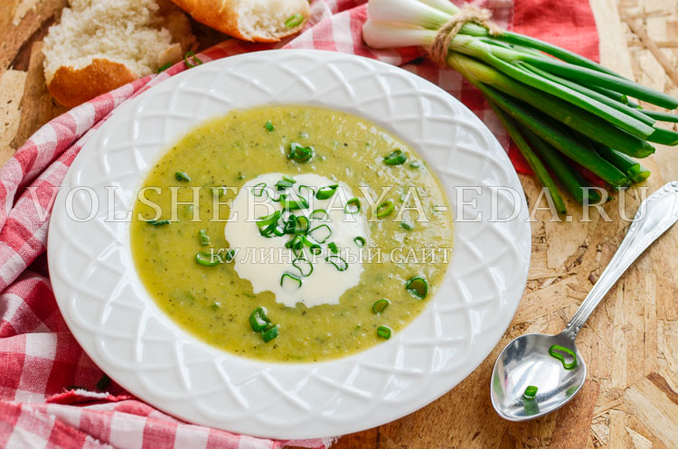 Кабачковый суп- пюре с плавленым сыром