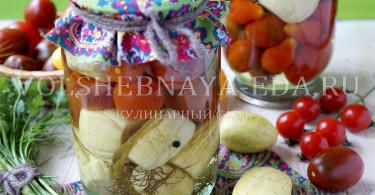 Маринованные помидоры и огурцы на зиму