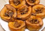 Айва запеченная с медом и грецкими орехами