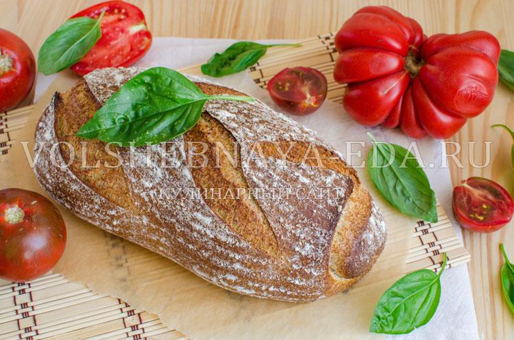 Горчичный хлеб на остатках закваски
