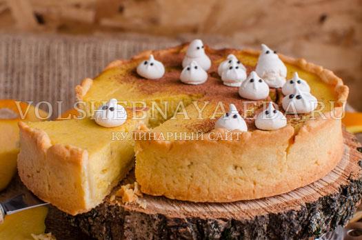 тыквенный чизкейк на хеллоуин рецепт