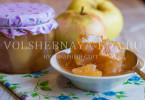 Прозрачное варенье из яблок дольками