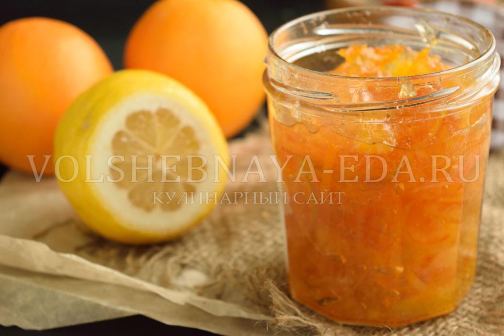 Как сделать джем из апельсинов в домашних условиях рецепт