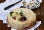 Блинный торт рецепт с фото