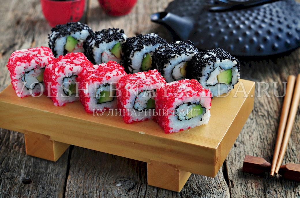 Суши в домашних условиях рецепты калифорния