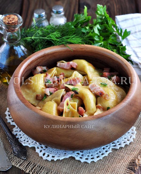 Вареники с картошкой и сушеными грибами пошаговый рецепт с