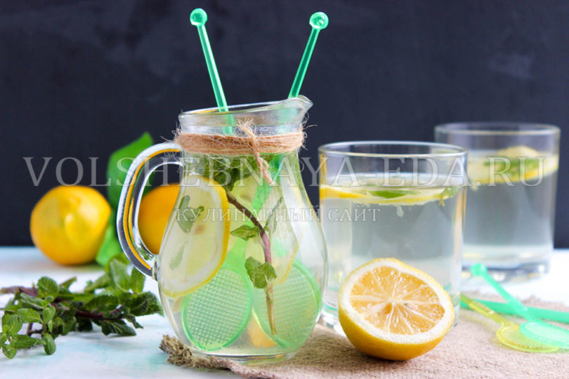 Мята и лимон напиток в домашних условиях 453