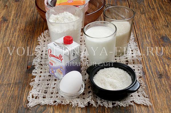 kokosovyj pirog so slivkami 1