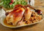 Курица, фаршированная гречневой крупой