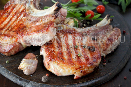 Рецепт приготовления стейка из свинины в духовке пошагово
