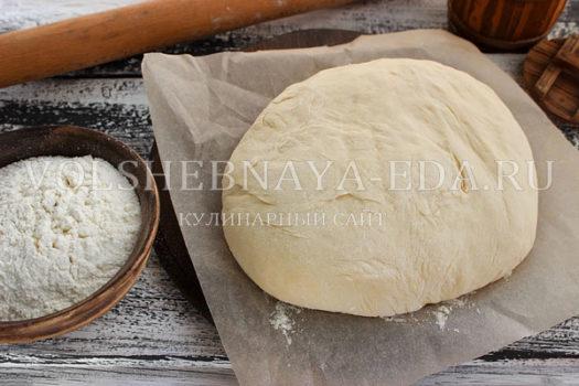Дрожжевое тесто на кипятке для жареных пирожков