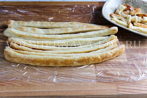 Торт полено из слоеного теста рецепт