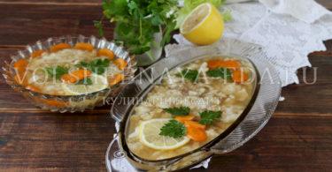 Рыбное заливное из сома