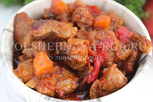 Свинина с овощами на сковороде рецепт с фото