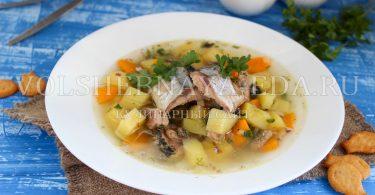Рыбный суп из консервов (сайра)