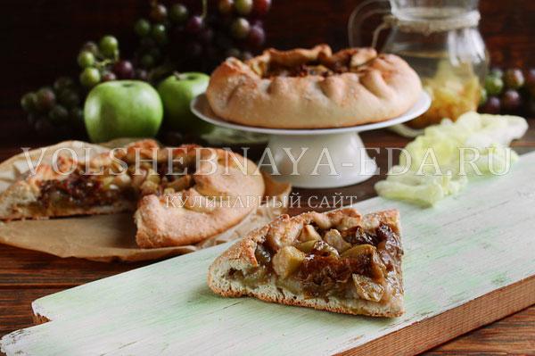galeta s vinogradom i yablokami 14