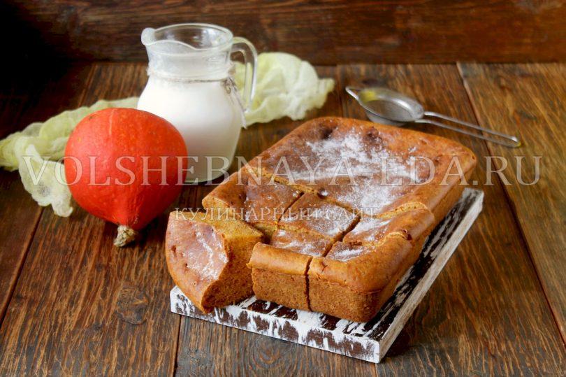 Пирог с тыквой на кефире